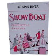 Vintage Sheet Music from Showboat for Ol' Man River