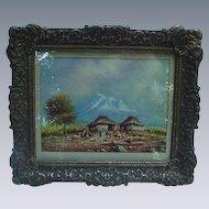 O. Moncayo Oil on Paper, Landscape View, Ecuador