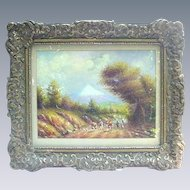 Landscape by O. Moncayo, Equadorian Artist, Oil on Paper