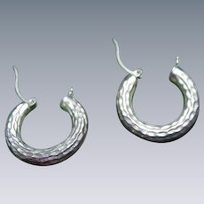 Pair of Sterling Hoop Earrings for Pierced Ears