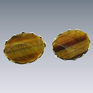 Tiger's Eye Cuff Links