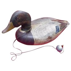 Vintage Ducks Unlimited Decoy with Weight, Lac La Croix