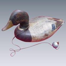 Vintage Ducks Unlimited Decoy with Weight, Lac La Croix