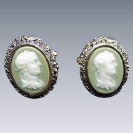 Dante Incolay Vintage Cuff Links, Caesar's Head