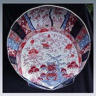Stunning Shell-Shaped Large Imari Plate, Reds, Blues, Golds