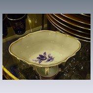 Richard Ginori, Italy, Sauce Dish, Double-Handled, Blue Flower