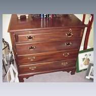 Kittinger Four-Drawer Bachelor's Chest w Pull-Out Writing Table