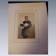 Reproduction of 19th C. Print of Louis Pasteur