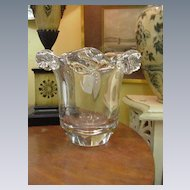 Daum Crystal Vase or Champagne Bucket, Heavy, Heavy Glass