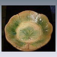19th C. Majolica Leaf Shaped Plate