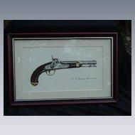 James W. Kalman Flintlock Pistol Print, I.N. Johnson Model 1842