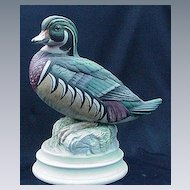 Andrea Bisque Porcelain Wood Duck Figurine