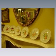 Six Royal Bayreuth Fruit Plates