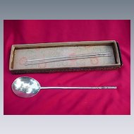 Decorative Chopstick Set with Serving Spoon, Dated 1945