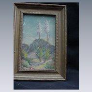 1930 Original Art by T. Mae de Ville, Flowering Yucca