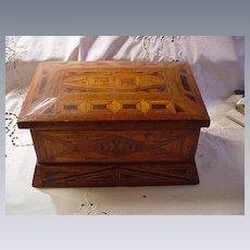 Tramp Art Box, Geometric Symbols