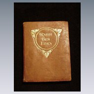 Miniature Leather Bound Book, Rabbi Ben Ezra, Robert Browning Poems