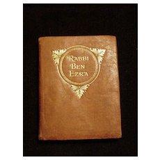 Miniature Leather Bound Book, Rabbi Ben Ezra, Robert Browning Poems