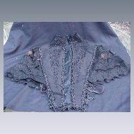 19th Century Beaded Black Dress Top or Bolero