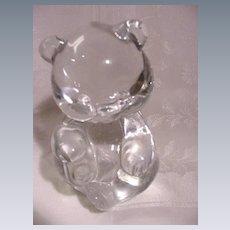 Fenton Glass Teddy Bear, Clear Crystal