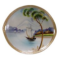 NIPPON MOUNT FUJI c1904 handpainted gilded moriage plate