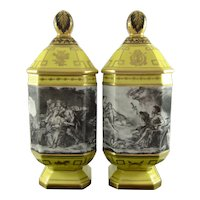 LE TALLEC c1957 apothecary jars (2) Grisé à la Manière de Boucher