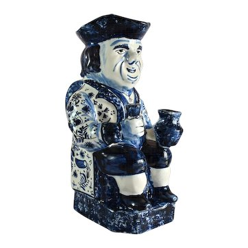 FRENCH FAIENCE Toby Jug 'Ordinary Toby' blue delft