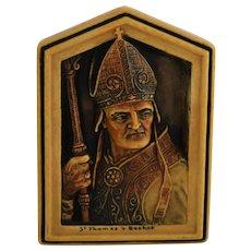 OSBORNE Ivorex plaque St Thomas à Becket 1906