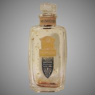 Early Watkins Perfumer Mimosa Perfume Bottle with Labels