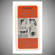 Celluloid Crane Co. Advertising Pocket Calendar Chicago 1925
