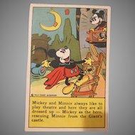 Bake-Rite Gold Seal Bread Mickey and Minnie Mouse Recipe Card Walt Disney Enterprises