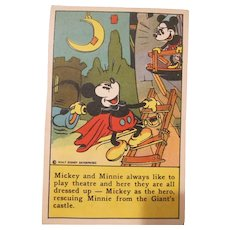 Bake-Rite Gold Seal Bread Mickey and Minnie Mouse Recipe Card Walt Disney Enterprises