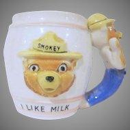 Smokey Bear I Like Milk Child's Mug Cup