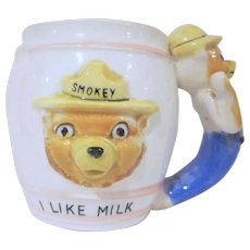 Smokey Bear I Like Milk Child's Mug Cup