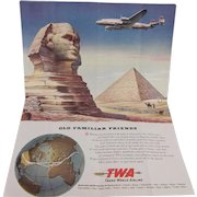 Trans World Airlines (TWA) Insert Poster From Saturday Evening Post Great Graphics 1940s