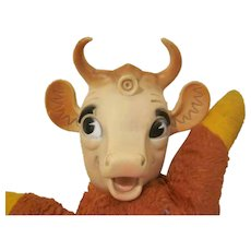 Vintage Plush and Vinyl Elsie The Cow Bordens Toy