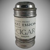 Early Havana Plantation Cigar Metal Shaker with Celluloid Wrap Premium