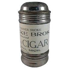 Early Havana Plantation Cigar Metal Shaker with Celluloid Wrap Premium