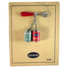 Canco American Can Company Premium Pin on Card Wonderful!!