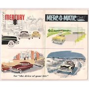 2 Mercury Automobile c.1950 Salesroom Brochures