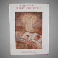 The Night Before Christmas Illustrated by Arthur Rackham Hard Back Book