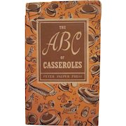 The ABC of Casseroles 1954 Hard Back Book