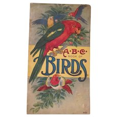 ABC Book of Birds Soft Back Book Stecher Litho Co. 1916