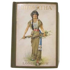 The Song of Hiawatha Minnehaha Edition 1898 Hard Back Book