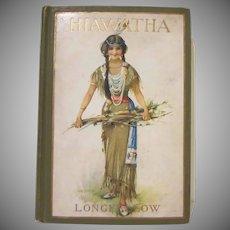 The Song of Hiawatha Minnehaha Edition 1898 Hard Back Book