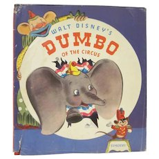 Walt Disney's Dumbo of the Circus Hard Back Book 1941