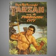 Edgar Rice Burroughs' Tarzan and the Forbidden City Hard Back Book Whitman 1955