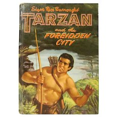 Edgar Rice Burroughs' Tarzan and the Forbidden City Hard Back Book Whitman 1955