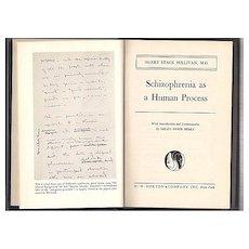 'Schizophrenia as a Human Process'  hard back Book First Edition