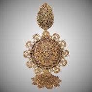 Ornate Gilt Stylebuilt Perfume Bottle